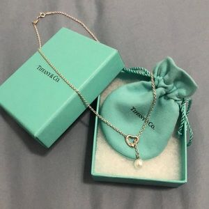 Tiffany & Co. Open Heart Lariat Necklace